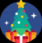 Christmas Tree flat design image